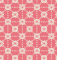Vintage Flower and Swirl Pattern on Pastel vector image