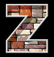 stone letter Z vector image