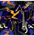 Music jazz pattern vector image