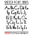 English handwriting alphabet figures vector image