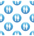 Man and woman sign pattern vector image