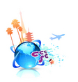 summer travel background vector image