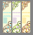 three vertical banner vector image