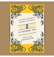 Wedding vintage wedding invitation vector image