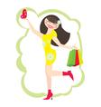 happy customer vector image vector image
