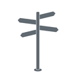 signpost icon vector image