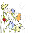Sweet pea flowers vector image