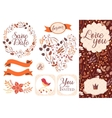 BIG Wedding graphic set isolated on white vector image