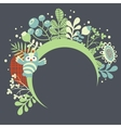 Birds and flowers banner for your beautiful card vector image
