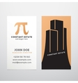 Constant Estate Abstract Business Card vector image