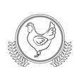 Delicious chicken meal vector image