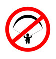 no paragliding sign vector image