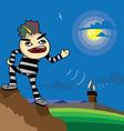 prisoner escape from prison vector image