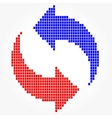Round Mosaic Arrows Pixel Blocks vector image