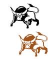 Wild buffalo bull vector image