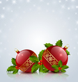 Christmas balls with holly vector image vector image