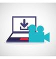 download digital data icons vector image