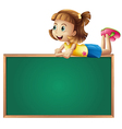 A young girl at the top of a board vector image