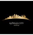 Kansas city Missouri skyline silhouette vector image vector image