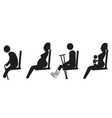 priority seat sign vector image vector image