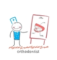 orthodontist tells presentation about teeth vector image vector image