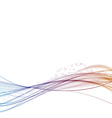 Bright satin color wave particle flow vector image