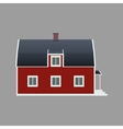 sweden house vector image