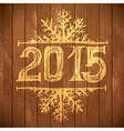 Happy new year - yellow letters vector image