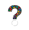 question mark color vector image vector image