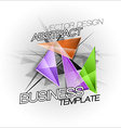 Sharp triangles on the abstract background busines vector image vector image