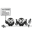 Tax Haven Sign vector image