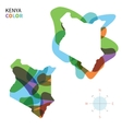 Abstract color map of Kenya vector image