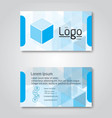 business card template modern flat design vector image