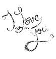 calligraphic grunge inscription handwritten i vector image