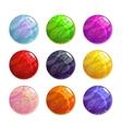 colorful glassy magic balls set vector image