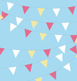 Coloured bunting on a sky background vector image
