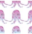 Jellyfish or octopus marine seamless pattern vector image