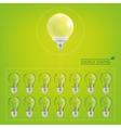 Lighting bulbs vector image