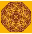 Ornamental henna mandala card Geometric circle vector image
