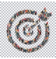 target people sign 3d vector image
