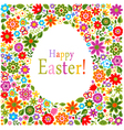 floral card easter celebration vector image vector image