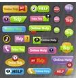 Online help buttons vector image