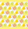 tender color funny mascot bubble shape sun rabbit vector image