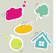 Baby speech bubbles vector image vector image