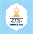 babby shower design vector image