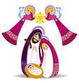 baby jesus in a manger 13 vector image