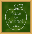 Back to school background with text and apple vector image