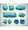 Cartoon glossy blue GUI set vector image