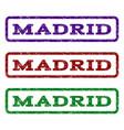 madrid watermark stamp vector image