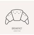 Simple Logo Template Breakfast vector image